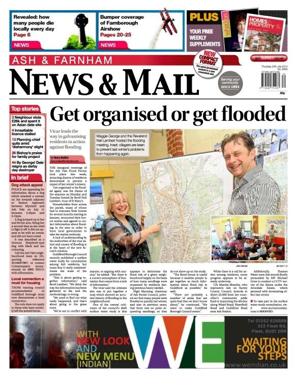 Ash Vale Flood Forum